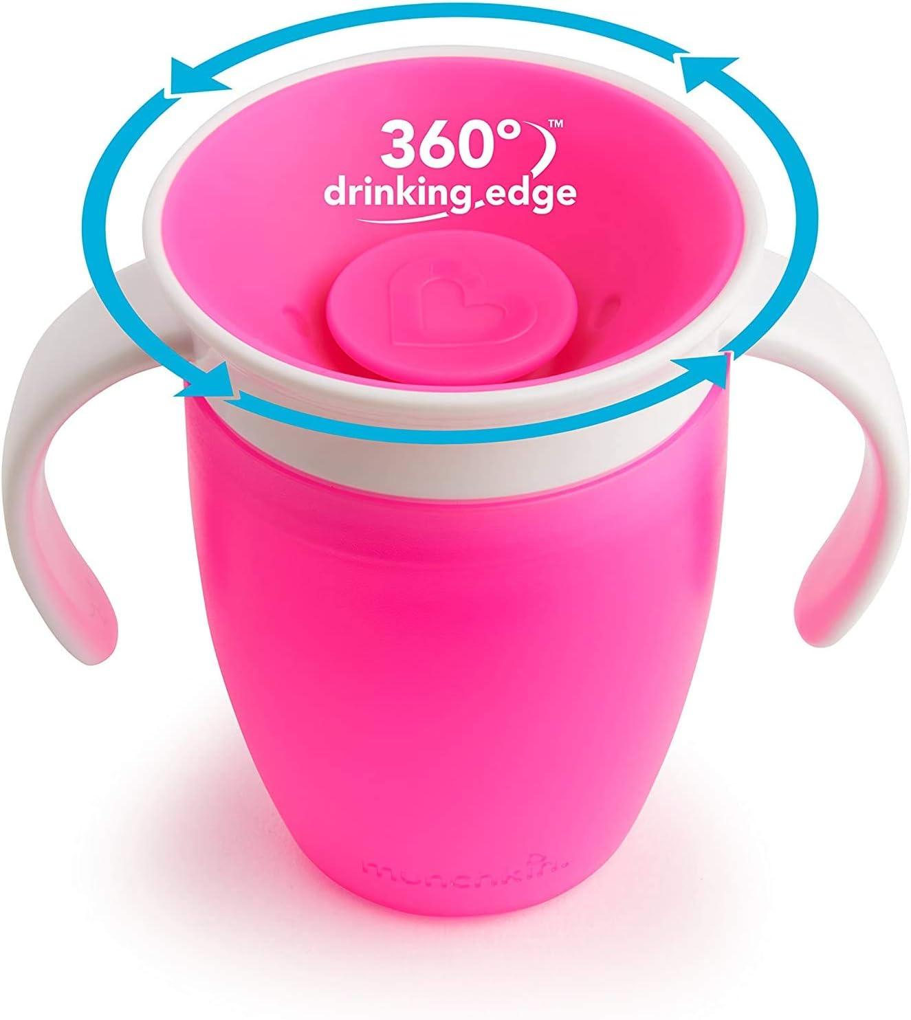 Taza de aprendizaje,Antigoteo Especial para beb/és. Taza giratoria de aprendizaje para beb/é de 360 grados con tapa abatible de doble ASA,a prueba de fugas,Taza de Beb/é Antiderrames Verde