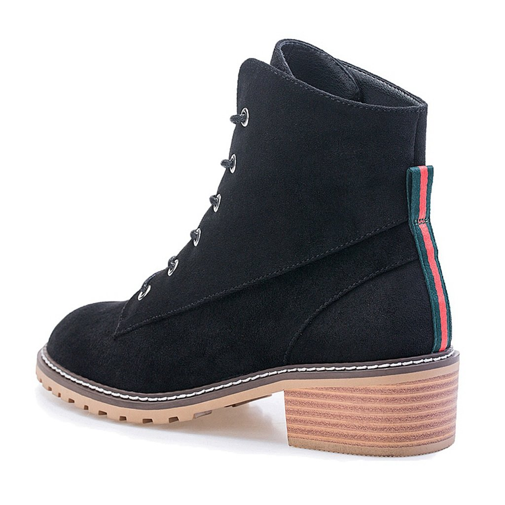 Damen Martin Stiefel Stiefel Stiefel Striped Fashion Stiefel ( Farbe   Schwarz , größe   US 5\UK 4\EUR 35 ) 9b2595