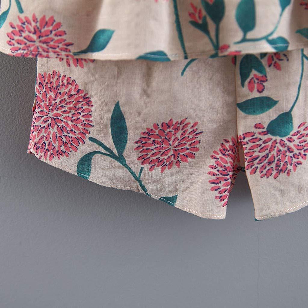 Pantalones Cortos Ropa Bebe Ni/ña Verano Fossen Reci/én Nacido 1 a 4 A/ños Fruta y Flor Tops sin Mangas con Volantes Sombrero de Paja