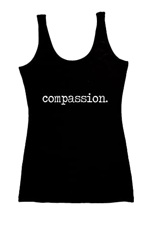 dead7c6f074e3 TREELANCE Organic Cotton Yoga Tank Tops. Yoga Shirts for Women. Black  Compassion Small.