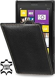 StilGut, UltraSlim, pochette exclusive de cuir véritable pour le Nokia Lumia 1020, noir