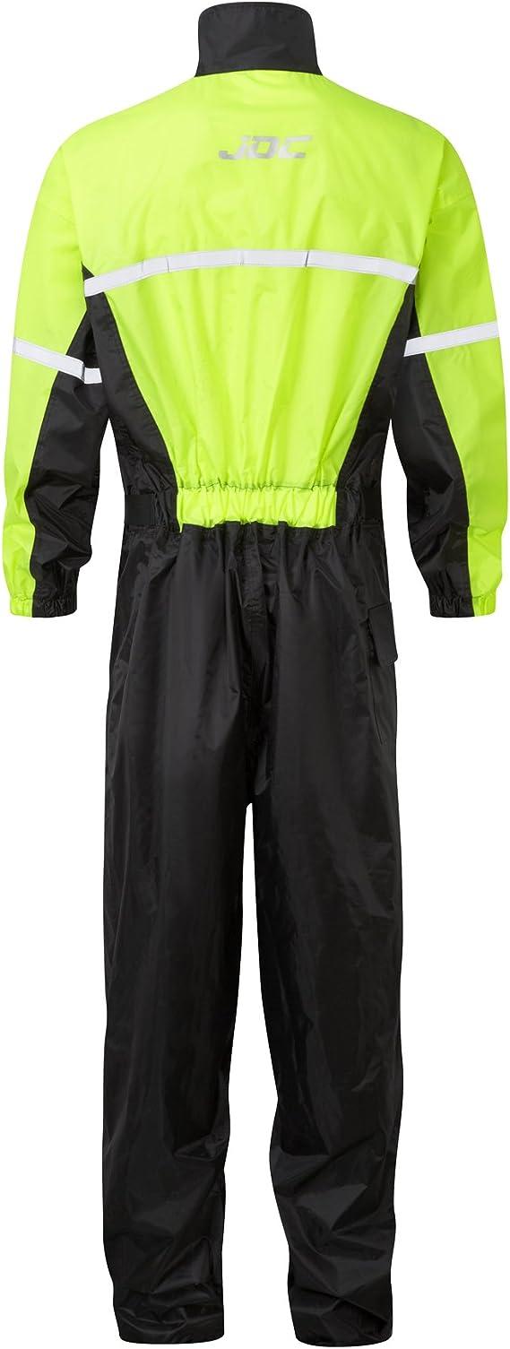 Jdc Motorrad Kombi Regenkombi 1 Stück Wasserdichter Regenschutz Shield Schwarz Gelb Xxl Länge Medium Auto
