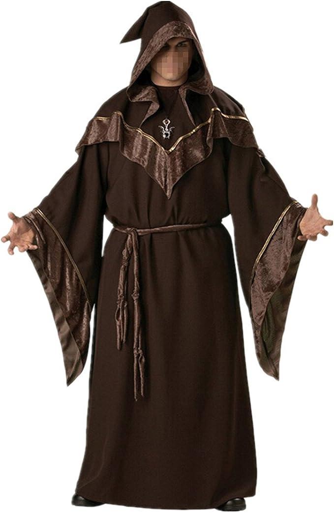Hombre Disfraz de Monje Verdugo Sacerdote Traje Medieval Costume ...