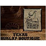 Burlap Country Rustic Chic Wedding Sign Western Home Décor Sign : He's my glass of Wine I'm his shot of Whiskey