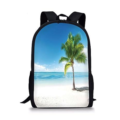 5b3e35cf79be Amazon.com: iPrint School Bags Landscape,Caribbean Maldives Beach ...