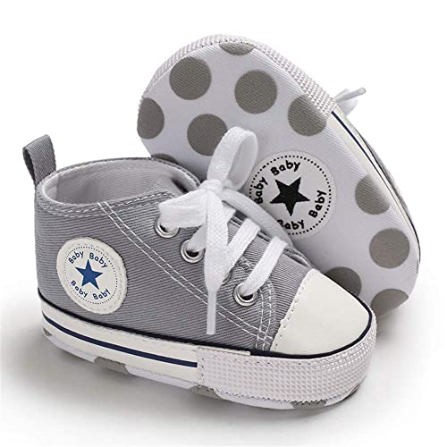 7bdb769979 Isbasic Baby Boy Girl Canvas High Top Sneakers Infant Toddler Soft Sole  First Walkers Shoes (