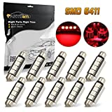98 silverado dome light cover - Partsam 8 x Ultra Red LED Bulbs 42MM Festoon 4SMD Error Free Dome Map Light 212-2 For 2007-2012 Ford F-250 Super Duty