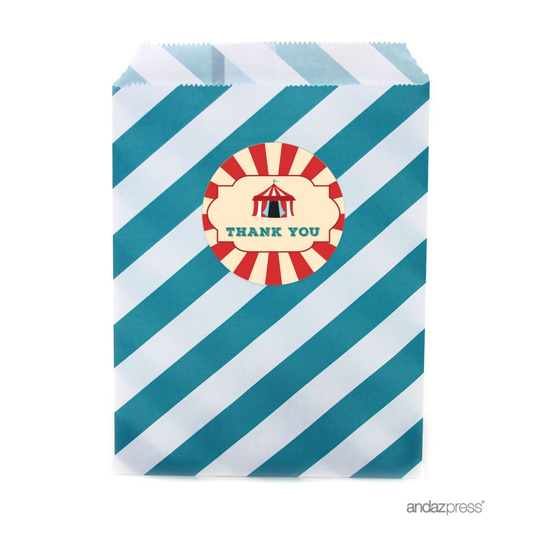 Andaz Press Carnival Circus Birthday Collection Cupcake Topper DIY Party Favors Kit 20-Pack