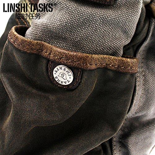 Retro Herren Umhängetaschen Messenger Bags Canvas Taschen Männer Männer lässig Taschen Rucksäcke Tide Taschen 32 * 28 * 12 CM bQ8wVBcRf