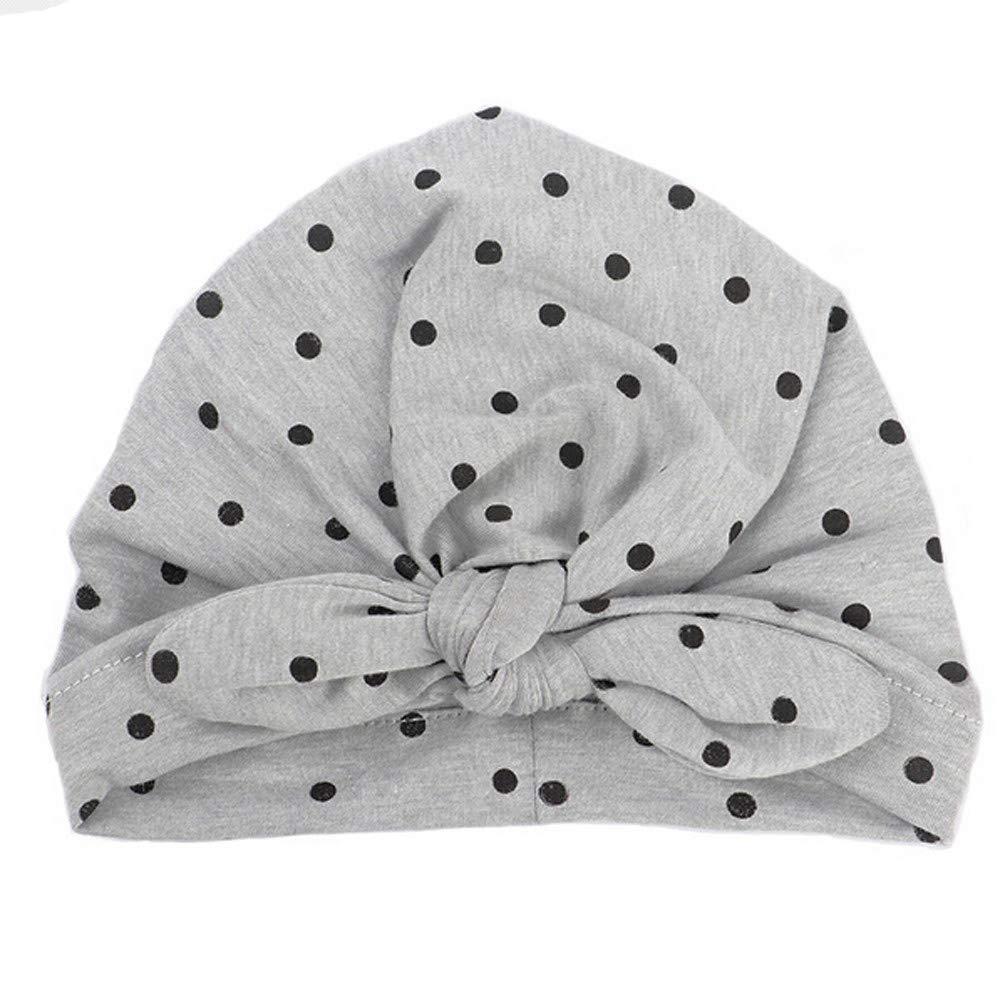 Unisex Baby Hats Knotted Style Turban Headband Nursery Beanie Wrap Hat