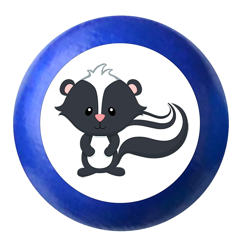 T/ürknaufStinktier Skunk dunkelblau Holz Kinder Kinderzimmer 1 St/ück Waldtiere Traum Kind