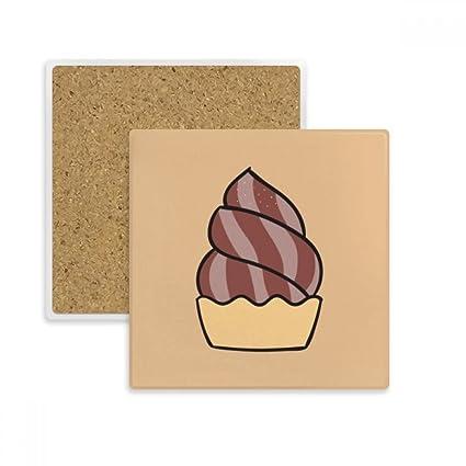 DIYthinker la harina de Avena Chocolate Dulce Helado Coaster Plaza Taza del sostenedor de Taza de