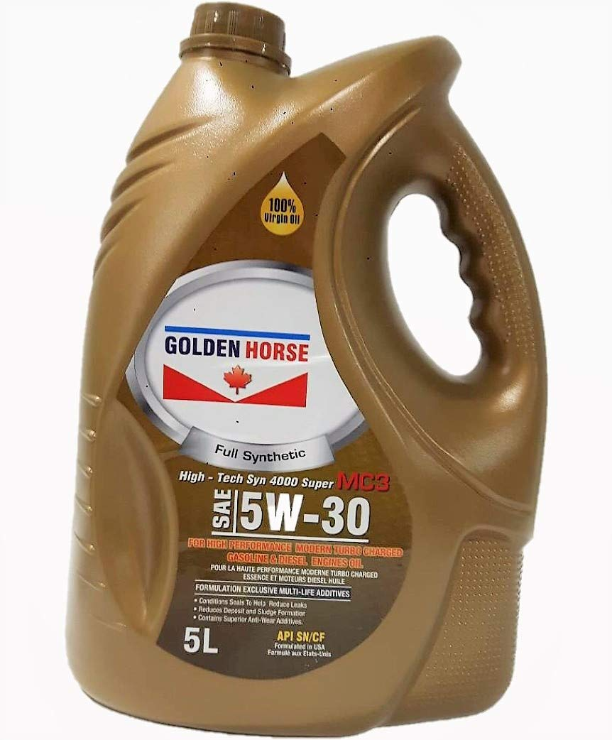 Golden Horse 5W30  MC3 Synthetic Gasoline/Diesel Engine Oil, 5 Litres