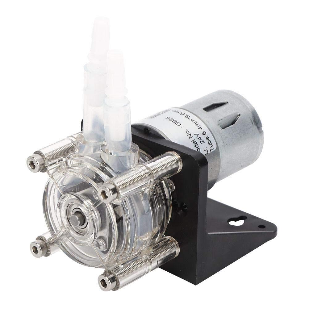 24V 500 ml//min Gro/ßem Durchfluss Schlauchpumpe aus Edelstahl 304 mit transparentem PC-Kopf Schlauchpumpe