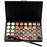 Tonsee 40 Color Eye Shadow Makeup Cosmetic Shimmer Matte Eyeshadow Palette Set Kit (A)