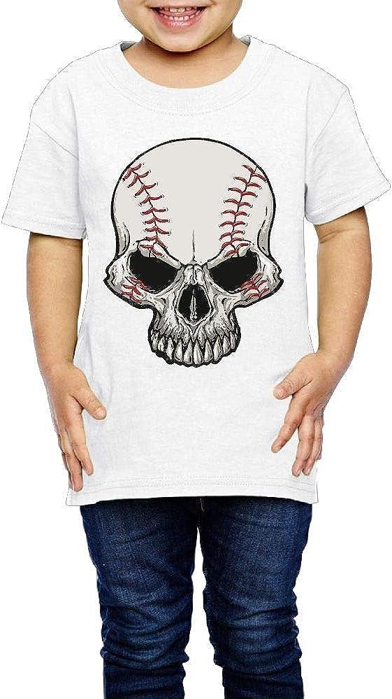 XYMYFC-E Skeleton Baseball 2-6 Years Old Child Short Sleeve Tee Shirts