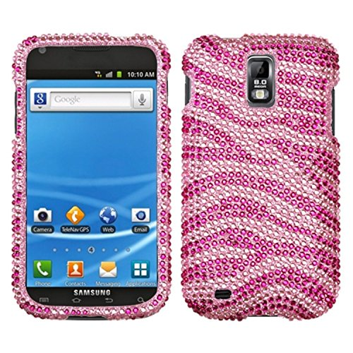 Asmyna SAMT989HPCDM045NP Premium Dazzling Diamante Diamond Case for T-Mobile Samsung Galaxy S II/T989 - 1 Pack - Retail Packaging - Pink/Hot Pink