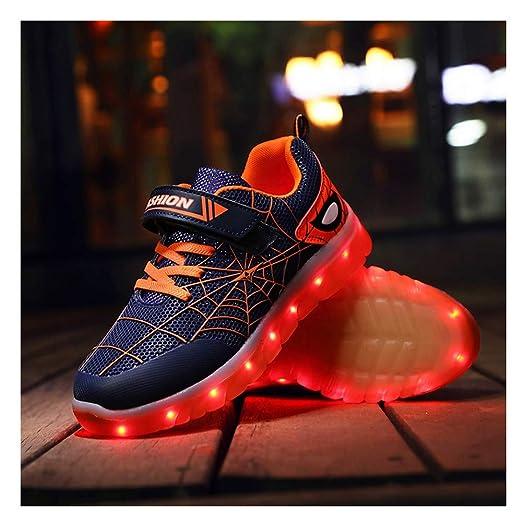 Tenis Con Luces,LED Zapatos Ligero Transpirable Bajo 7