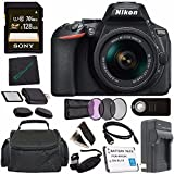 Nikon D5600 DSLR Camera with 18-55mm VR AF-P Lens (Black) 1576 + Lithium Ion Battery + Charger + Sony 32GB SDHC Card + Mini HDMI Cable + Remote + Memory Card Wallet + Card Reader Bundle