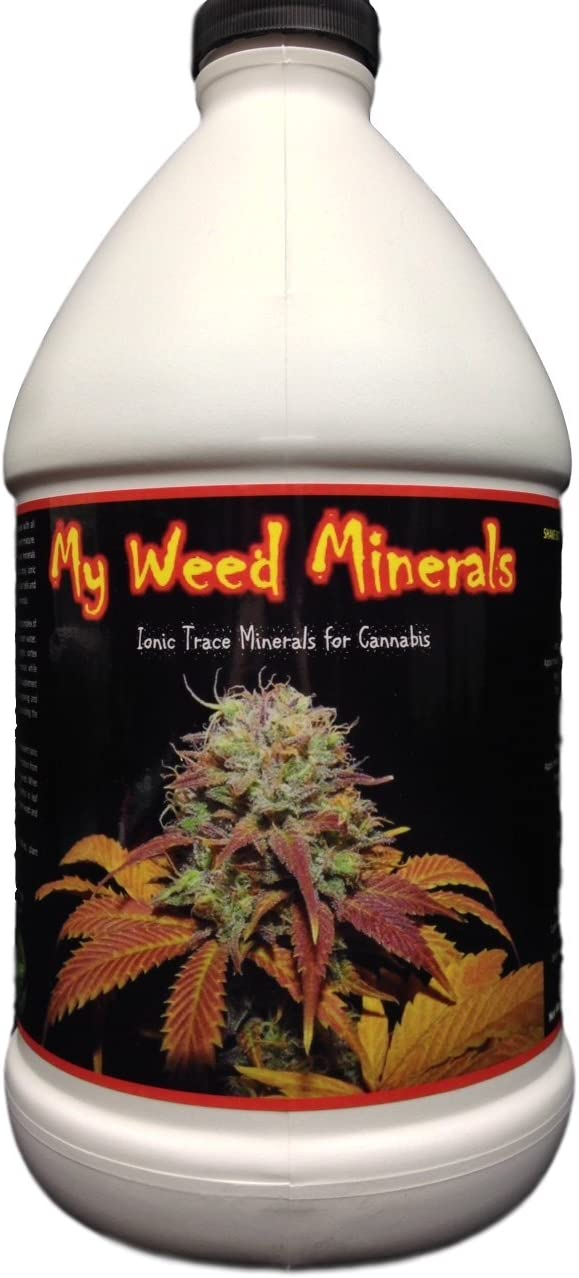 My Weed Minerals Ionic Trace Micro Nutrients for Growing Marijuana. ½ Gallon (64oz) Concentrate Nutrients for Growing Cannabis Plants.