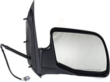 Amazon Com Mirror Compatible With 1992 2002 Ford E150 Econoline E250 Econoline E350 Econoline Club Wagon E150 Econoline Club Wagon Power Manual Folding Textured Black Passenger Side Automotive