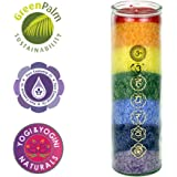 Chakra Rainbow Candle Scented with Honeysuckle and Cedar Essential Oils
