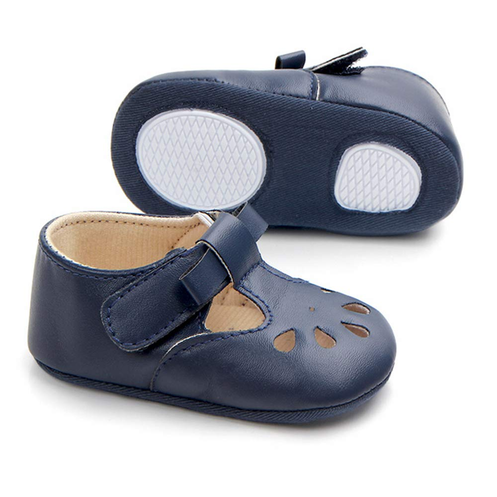 0-18 Months Baby Girls Boys Moccasins Anti-Off PU Leather Soft Sole Crib Shoes Infant Walkers