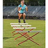 Power Systems Power Hurdle, Collapsible and Height-Adjustable Hurdles, 42 x 41 Inches, Red/White, 4-Pack (22150)