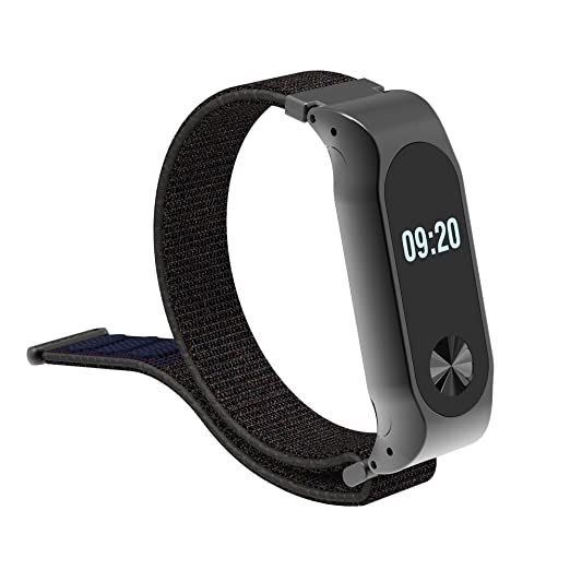 8ca86f87de6e Pulsera para XiaoMI MI Band 2 LANSKIRT Nylon Ligero Banda de reemplazo  Ajustable Correa Deportiva Recambio Brazalete Extensibles  Amazon.es   Relojes