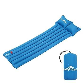 CampLand - Saco de dormir inflado con almohada incorporada para acampada, colchón de aire ligero para acampada, mochila, senderismo: Amazon.es: Deportes y ...