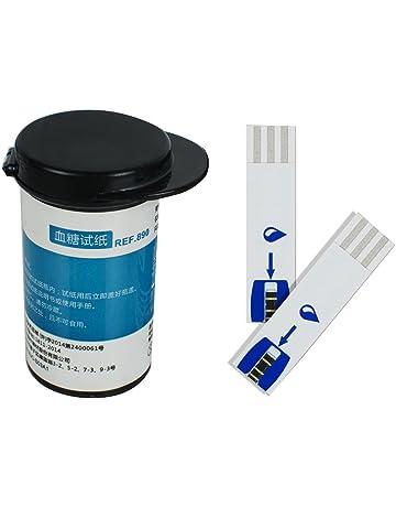Genmine Tiras De Pruebas DiabÉTicas De Glucosa En Sangre Azul 50 Piezas + 50 Libre Sw