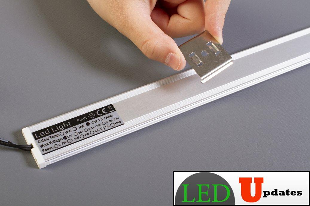 LEDupdates 24 inches Under Cabinet LED light for work shop & closet with UL Power adapter by LEDUPDATES (Image #5)