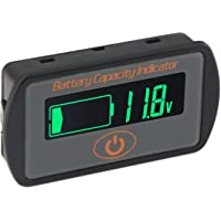 Aili Battery Monitor Capacity Indicator 2in1 Voltage Capacity SOC Combo Meter Lead Acid 12V 24V 36V 48V Lithium Li-ion…