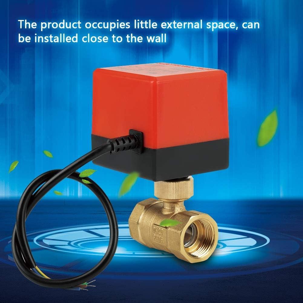 Maxmartt Motorized Ball Valve Brass 2 Way Motorized Ball Electrical Valve AC 12V G3//4 DN20 for Flow Control