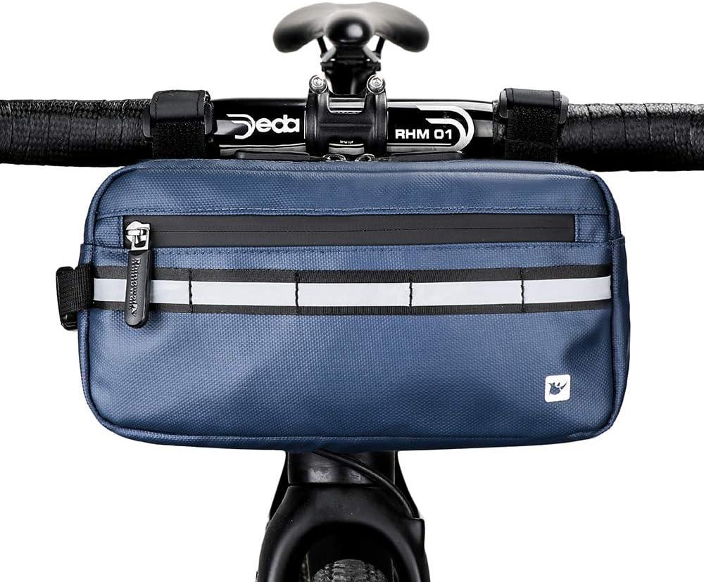 Rhinowalk Bike Bag Waterproof Bike Handlebar Bag,Bike Basket Bicycle Front Bag Shoulder Bag Waist Bag for Sport Bicycle Professional Cycling Accessories