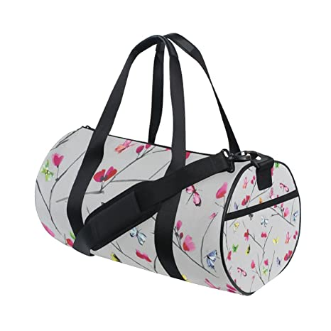7238ec9157a6 Image Unavailable. Image not available for. Color  OuLian Gym Bag Floral  Butterfly Women ...