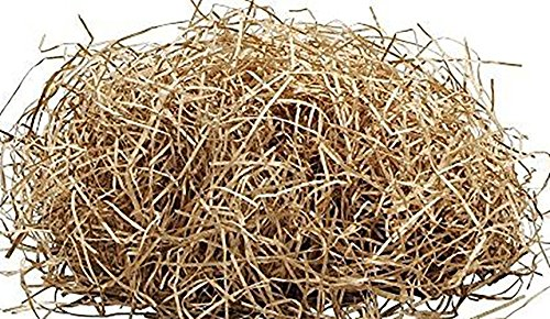 Custom & Unique {1 Pound} of Straight Cut Shredded Gift Basket Filler Paper w/ Fun Simple Natural Earthy Toned Hay Inspired Cool Modern Decorative Artistic Versatile Design (Brown)