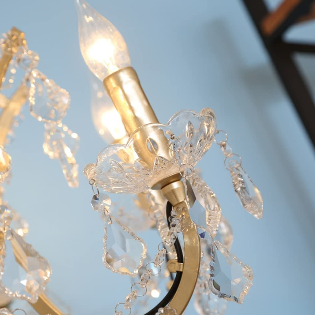 Stehlampe American Village Eisen Kunst Kristall Stehlampe