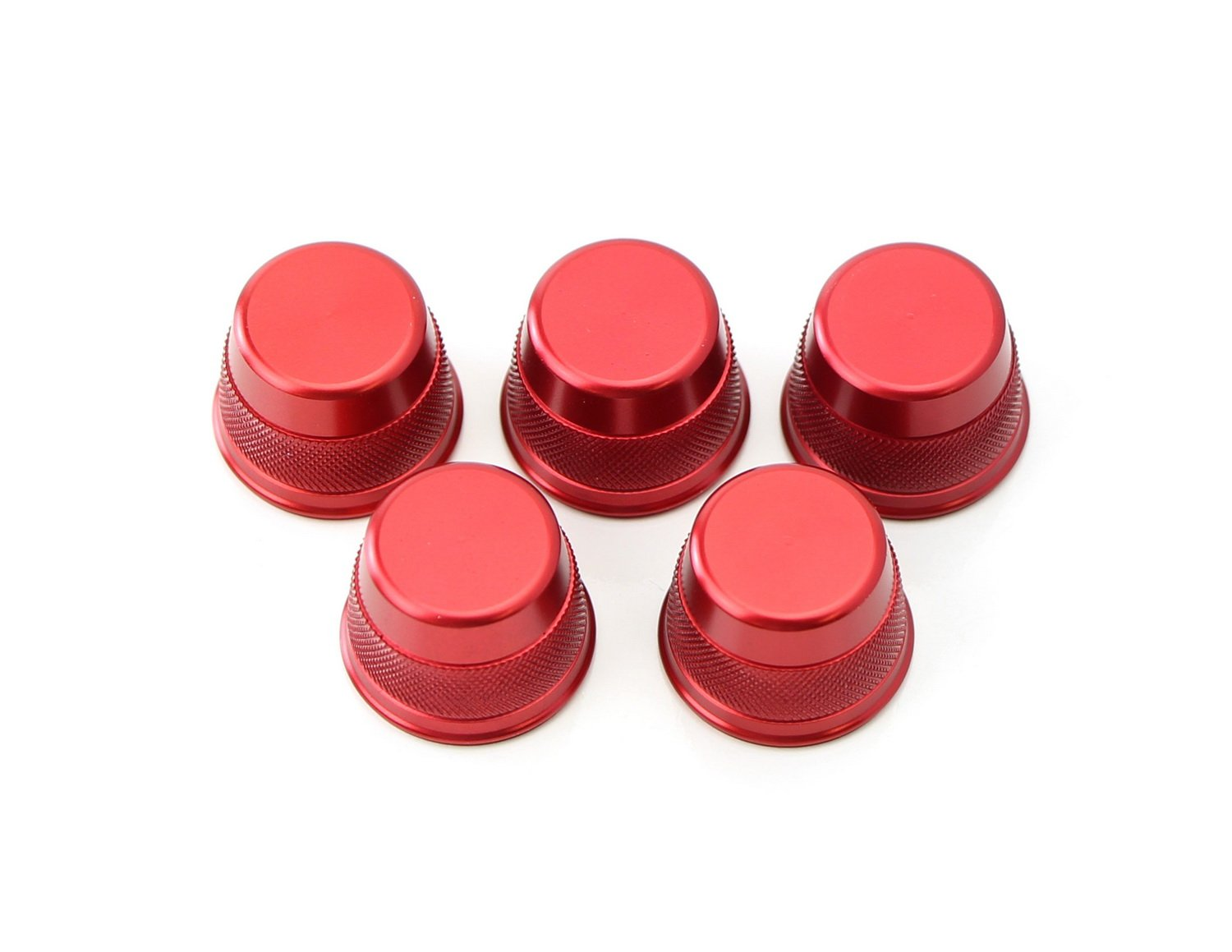2016-up GLC Class iJDMTOY 5pc Sports Red Aluminum Air Conditioner Vent//Opening Knob Decoration Covers For 2015-up Mercedes W205 C-Class