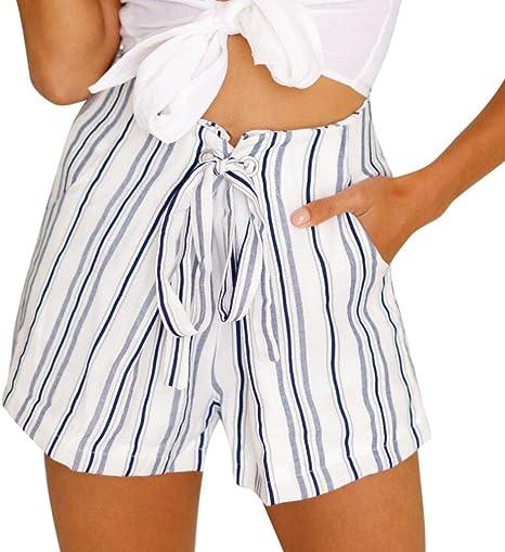 Pantalones corto de rayas sexy mujer de Verano Pantalones corto ...
