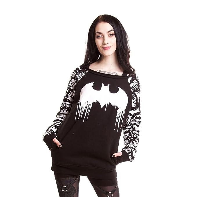 DC Comic Graffiti Sudadera para Mujer en Negro Cosplay Batman impresión Pre Orden: Amazon.es: Ropa y accesorios