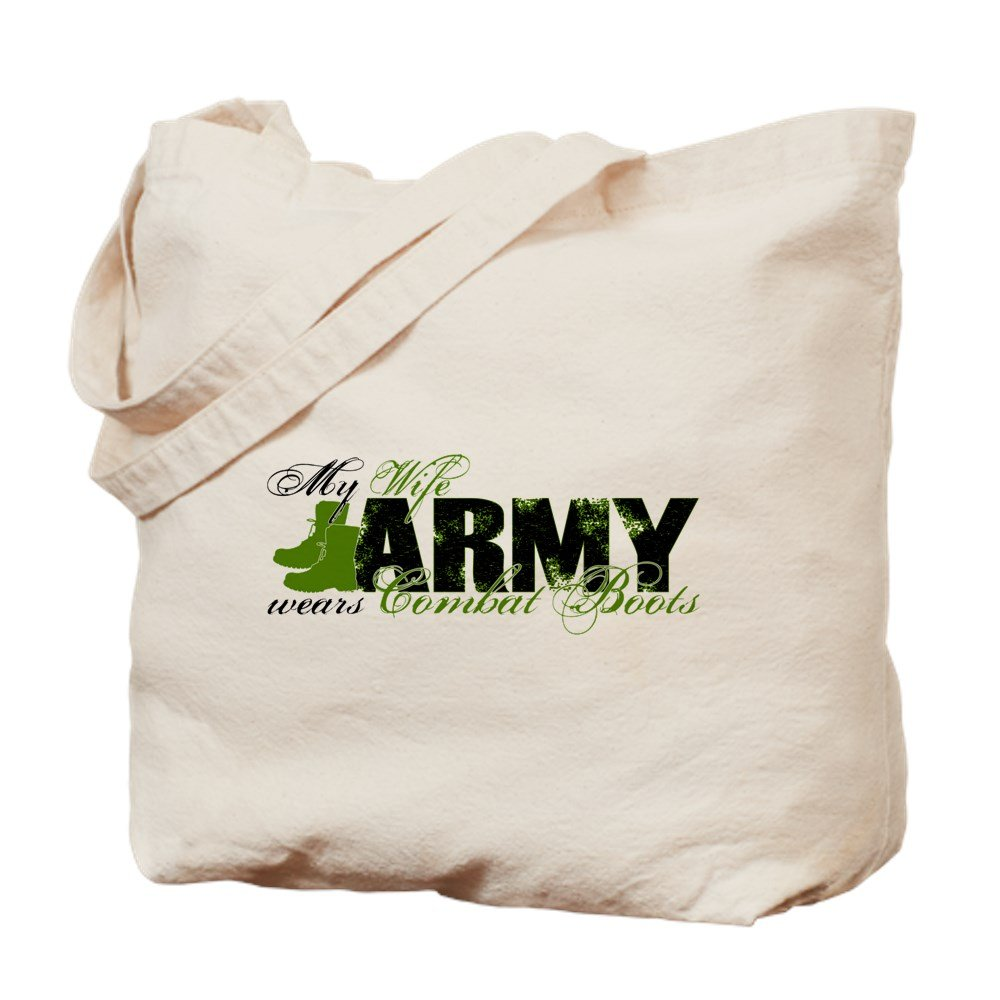 CafePress - Wife Combat Boots - ARMY - Natural Canvas Tote Bag, Cloth Shopping Bag