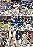 2017 Topps Series 1 Milwaukee Brewers Baseball Card Team Set - 11 Card Set - Includes Jonathan Villar, Keon Broxton, Ryan Braun, Scooter Gennett, Orlando Arcia, and more!