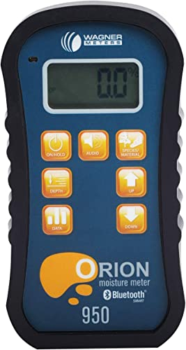 Wagner Meters Orion 950 Smart Pinless Wood Moisture Meter with Temperature RH Kit – Traceable Calibrator – NIST