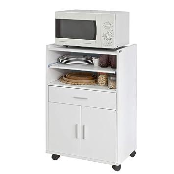 SoBuy®Aparador Auxiliar bajo de Cocina para microondas,con 2 Puertas y 1 cajón