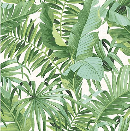A-Street Prints 2744-24136 Alfresco Green Palm Leaf Wallpaper,