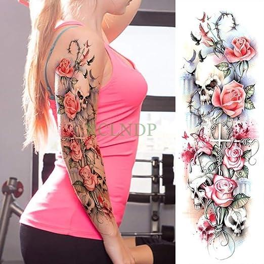 Handaxian 3pcs Etiqueta engomada del Tatuaje Impermeable Hermosa ...
