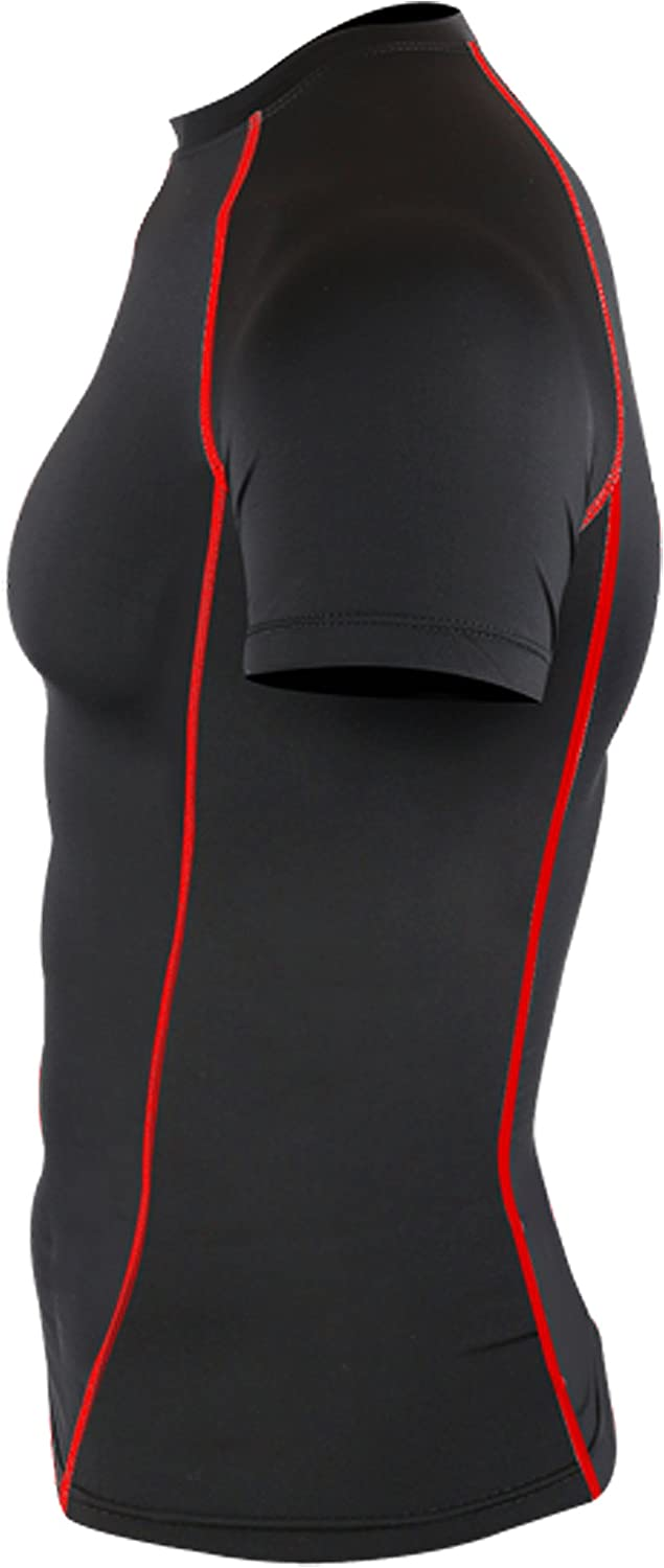 New 201 Black Skin Compression Tights Base Layer Running Shirts Men