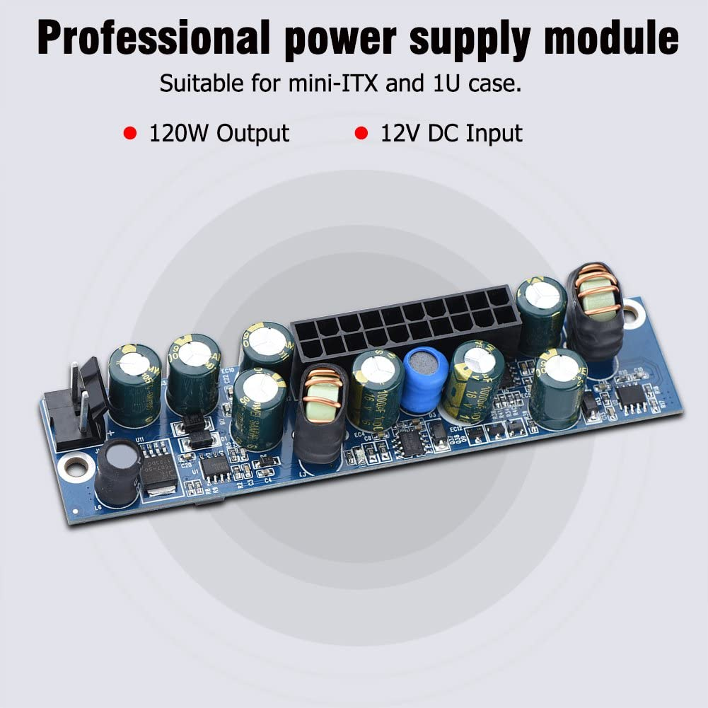 etc Mugast DC 12V PC Power Supply 120W PSU Computer Power Supply Module with 24Pin ATX//DC Input Cable for HTPC POS Digital Set-Top Boxes ITX Case Network Servers