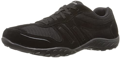 Skechers Sport Womens Breathe Easy Jackpot Fashion Sneaker,Black,5 ...
